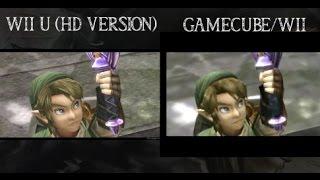 Zelda Twilight Princess HD WiiU VS Gamecube/Wii Version Graphics Comparison