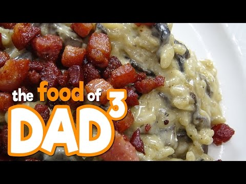 The Food of Dad³ - Mushroom and Bacon Risotto