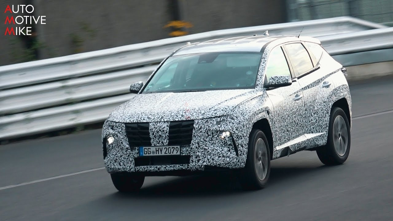 2021 HYUNDAI TUCSON SPIED TESTING AT THE NÜRBURGRING - YouTube