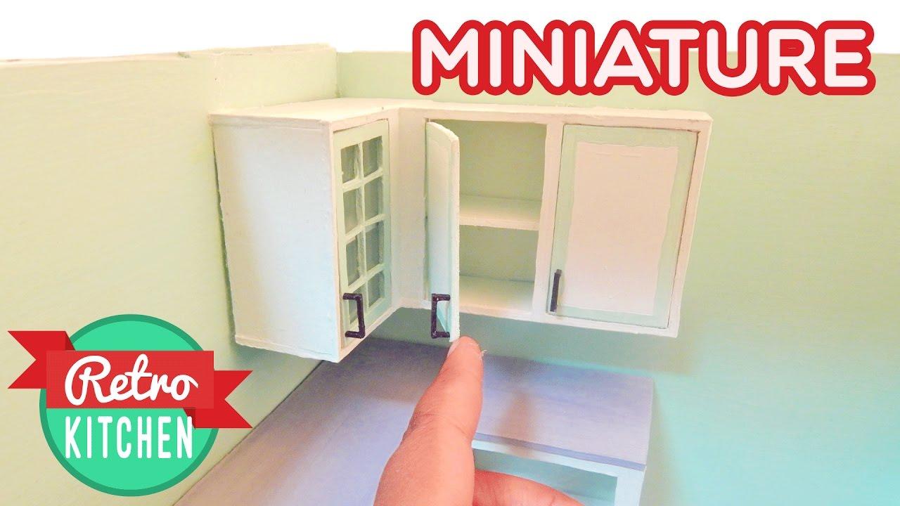 Upper Kitchen Cabinets Retro Miniature Kitchen Room Box 1 12