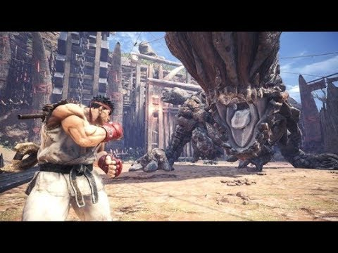 Aris Plays - Monster Hunter World: SFV Ryu Event Quest