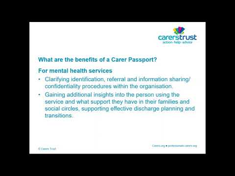 Webinar: Carer Passports in Mental Health Trusts