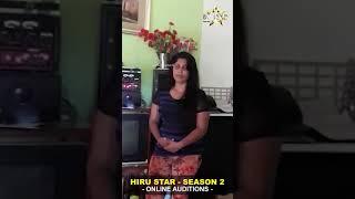 Ganga sandamali thilakarathna  Hiru Star - Season 02   Online Auditions