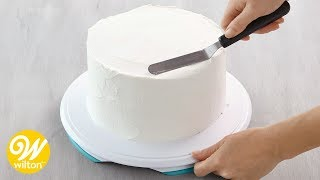 How to Crumb Coat and Ice a Cake Using a Spatula  Wilton