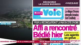 Le Titrologue du 25 Janvier 2018 : Bédié et Ouattara, ça ne va plus!