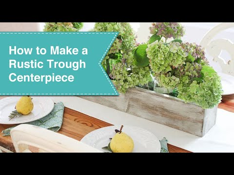 How to Make a Rustic Painted Trough Centerpiece