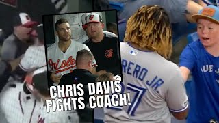 chris-davis-fights-coach-after-getting-benched-vladimir-guerrero-jr-makes-fans-day-mlb-recap