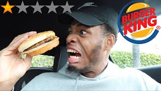 GOING TO THE WORST REVIEWED BURGER KING IN MY CITY I GOT SICK!