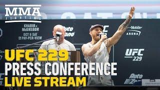 UFC 229 Press Conference: Khabib Nurmagomedov vs. Conor McGregor - LIVE STREAM - MMA Fighting