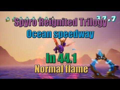 (FWR) Spyro Reignited - Ocean speedway in 44.1 (Normal flame)