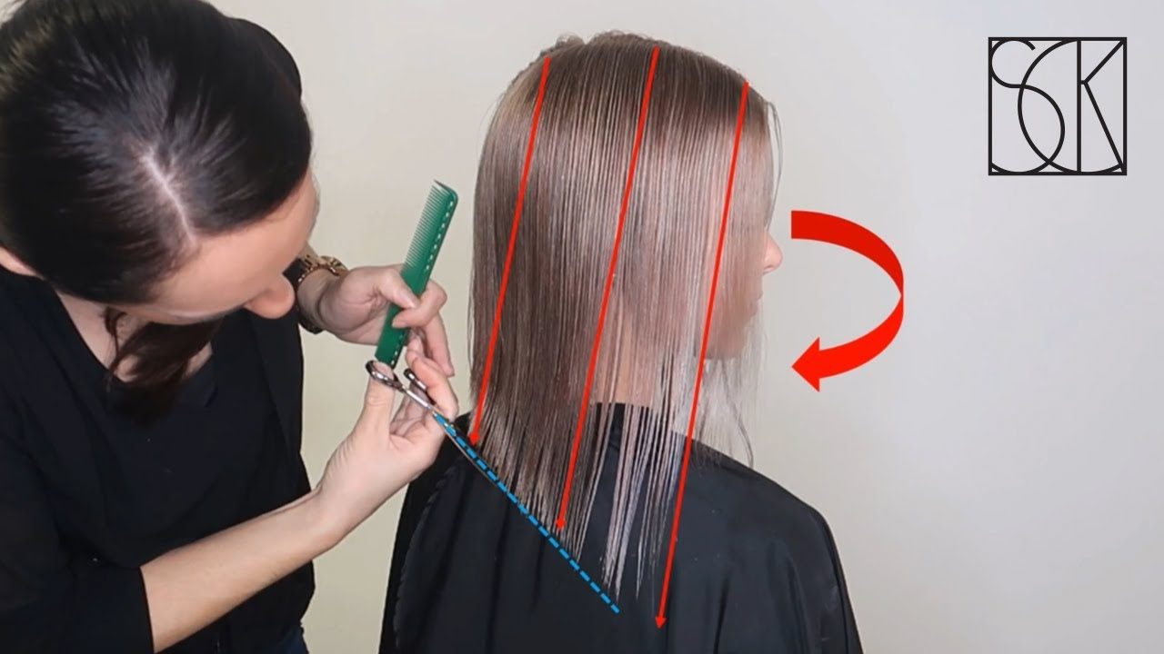 Bob Lob Long Bob Haircut Tutorial By Sanja Karasman Youtube