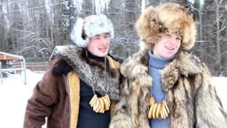(Лук лучок) Снег-снежок Свадебное поздравление от друзей СашаНика 16.01.16