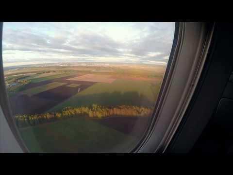 Посадка самолета. Аэропорт Кольцово. Екатеринбург. Full HD