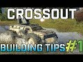 Crossout - HIDE FUEL and Weapons! - Vehicle Building Tips & Tricks #1