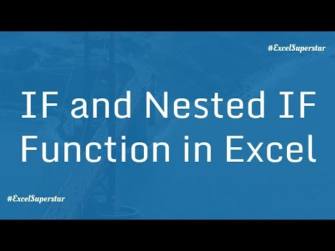 How to use IF function and Nested IF function in Excel | Hindi - YouTube