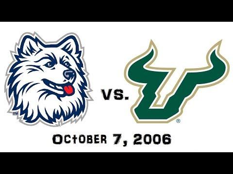 October 7, 2006 - Connecticut Huskies vs. South Florida Bulls Full Football Game