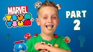 Marvel Superheroes Tsum Tsum PART 2 Disney Blind Bags unboxing with Spiderman Toys by KID CITY