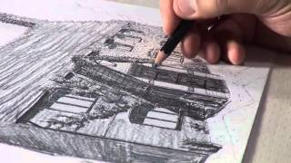 How to Draw a House - Shading with Soft Pencil - by Eli Ofir