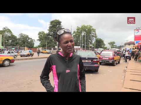 Francess Williams - a female taxi driver in Freetown