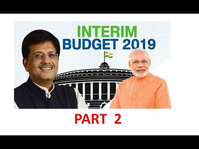 Part 2, Budget 2019-20 for UPSC/CSE/IAS