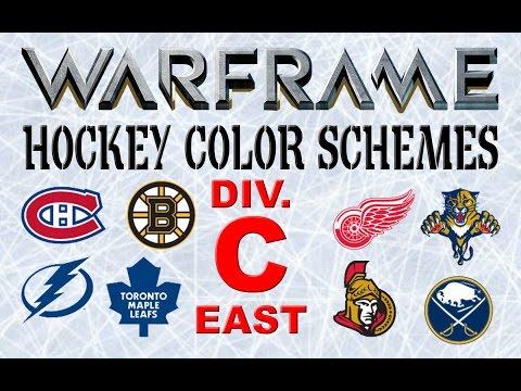 WARFRAME NHL Hockey Skins (Eastern Conference, Division C)