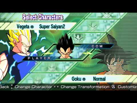 Dragonball Z Shin Budokai Another Road PSP : Character List