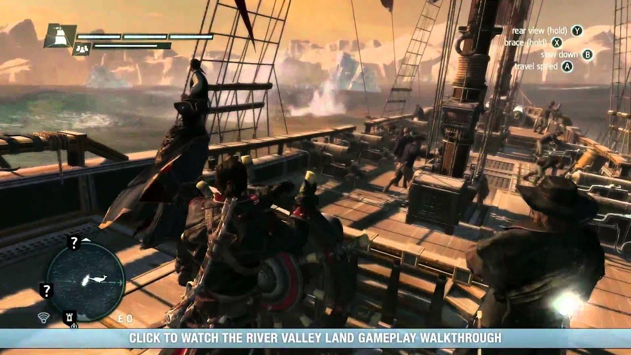 Assassin S Creed Rogue Arctic Naval Gameplay Walkthrough Youtube