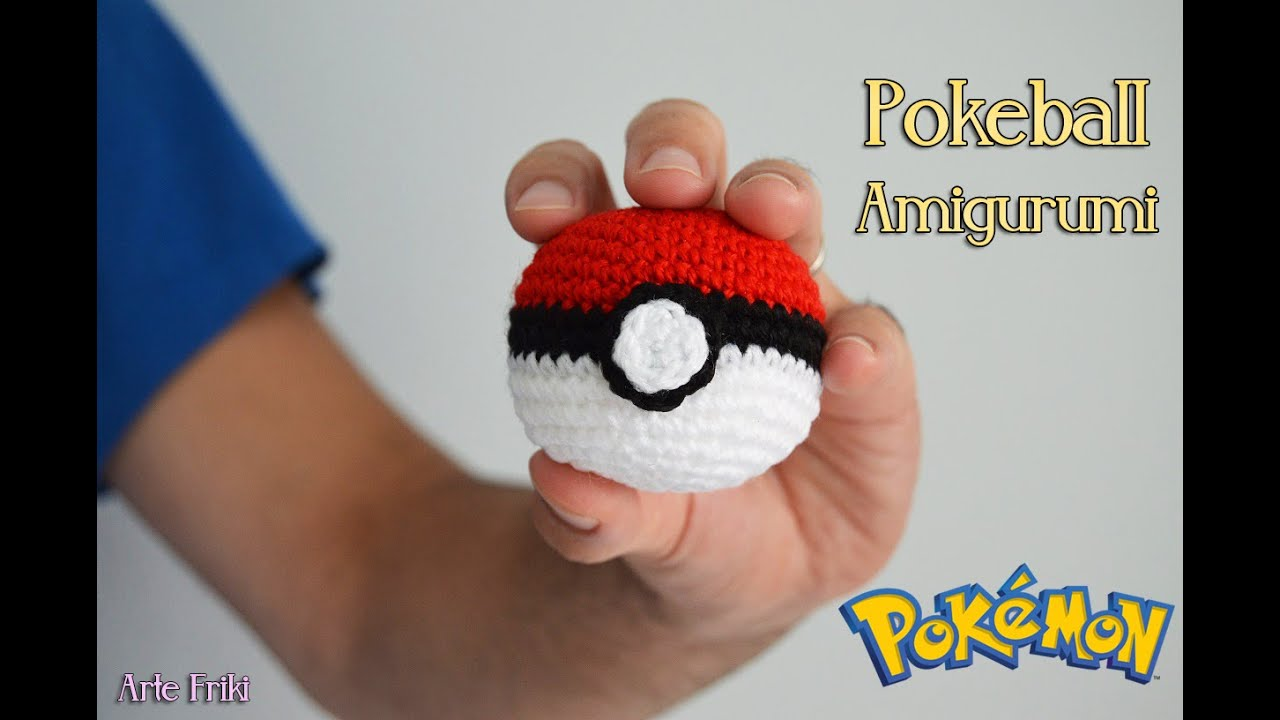 Pokeball Amigurumi [TUTORIAL] - YouTube