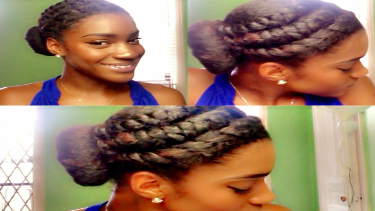 Hair Of The Day: Simple & Cute Side Bun W/ 2 Strand