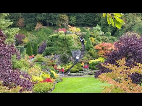 Butchart Gardens, Victoria B.C. Sep 2015. A walk through video with still photos added