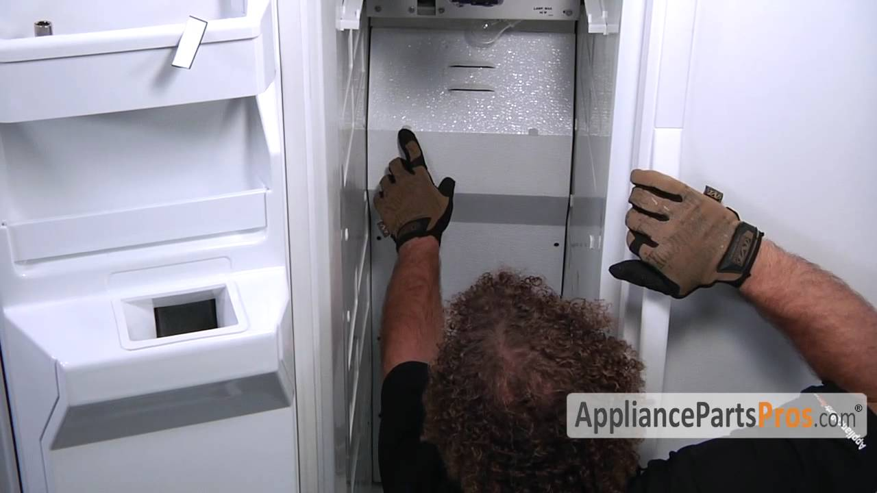 refrigerator evaporator fan blade part wp2169142 how to replace [ 1280 x 720 Pixel ]