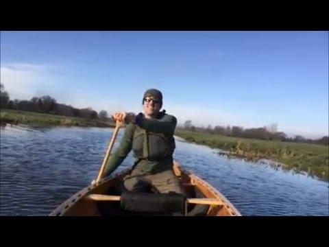 A paddle on the river Waveney in my home built cedar strip canoe