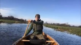 A paddle on the river Waveney in my home built cedar strip canoe