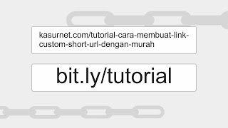 Cara Membuat Short URL Custom Bitly Dengan Mudah