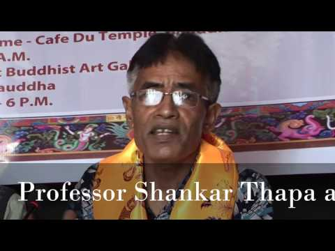 Professor Shankar Thapa at Buddhist Art Gallery