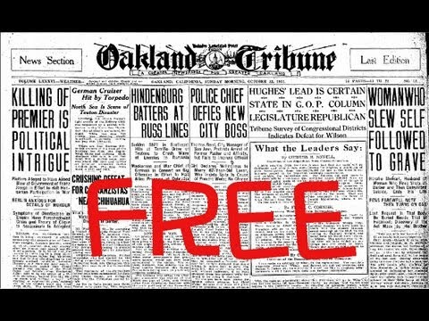 Researching Newspapers for Genealogy for Free