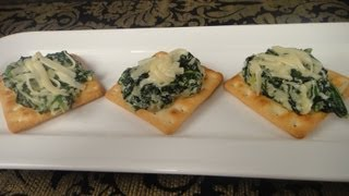 Spinach and Cheese Crackers