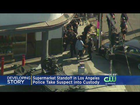 Shooting Suspect In Standoff At Los Angeles Trader Joe's In Custody; 1 Woman Killed