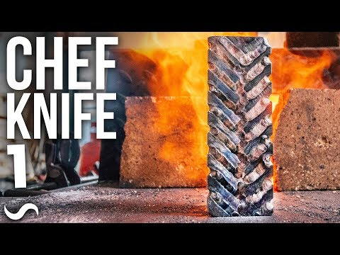 MAKING A CHEF'S KNIFE!!! PART 1