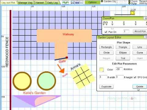 Lay Out Plot Tutorial for Plangarden Vegetable Garden Design