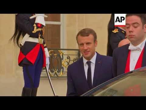 Macron meets Iraqi PM for talks on IS