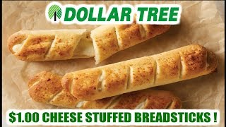 Dollar Tree $1.00 Cheese Stuffed Breadsticks! - WHAT ARE WE EATING?? - The Wolfe Pit