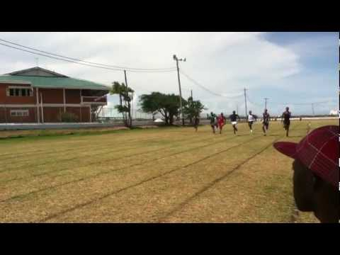 Central High School Guyana 2012 Sports- 100 Meters Men Under 18