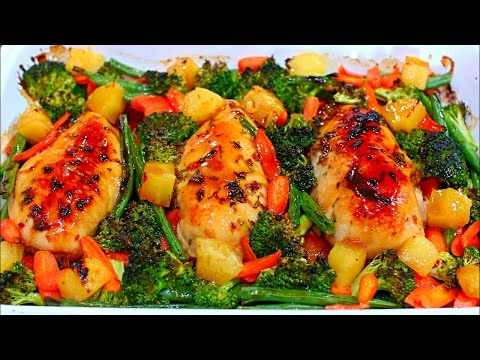 One Pan Teriyaki Chicken and Veggies Recipe Easy and Healthy Chicken and Vegetables