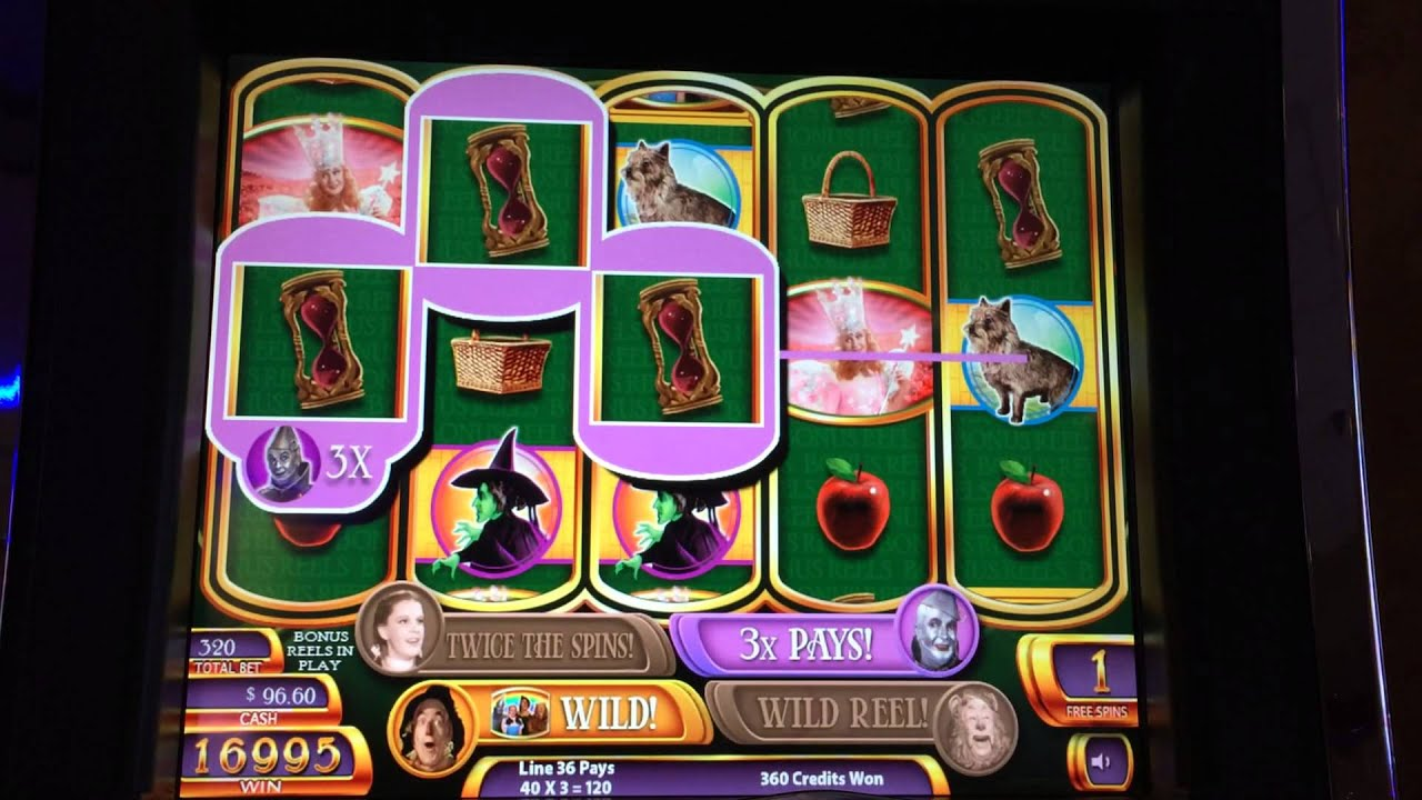 wizard of oz slot machine big win