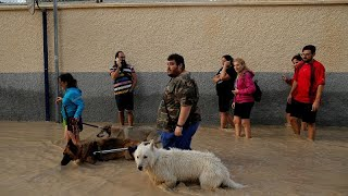 Emergency workers rescue baby amid severe flooding in southeastern Spain