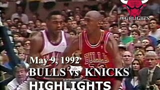 May 9, 1992 Bulls vs Knicks game 3 highlights Video