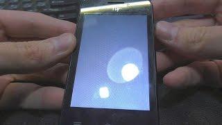 Смотреть видео экран телефона светится белым