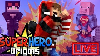 FIGHTING THUNDER-MAN-DUDE! Super Hero Origins LIVE #20.1 (Modded Minecraft Roleplay)