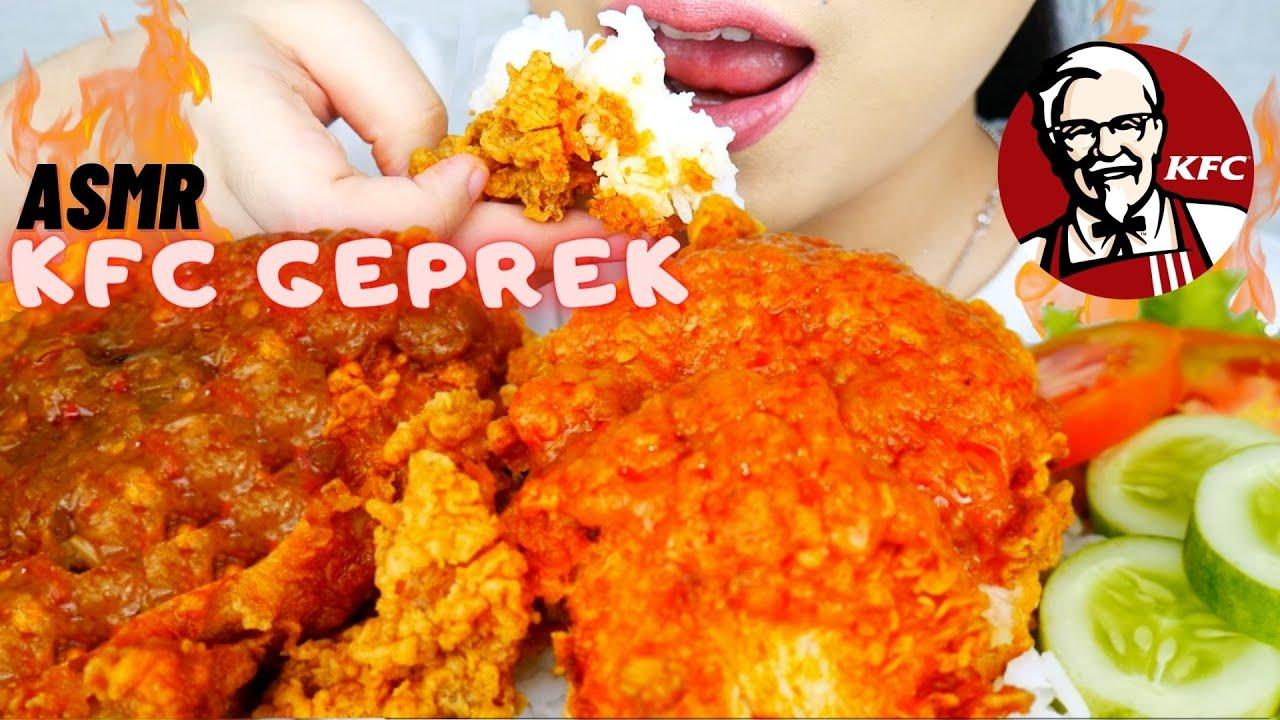 JUJURLY PEDES😭 ASMR KFC GEPREK SAMBAL KOREK DAN MATAH!   ASMR INDONESIA